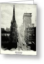 1898 Broadway New York City Greeting Card