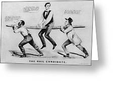 Presidential Campaign, 1860 Greeting Card