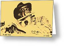 The Jazz Flutist Greeting Card