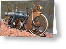 1900 Dual Rocket Steambike Greeting Card