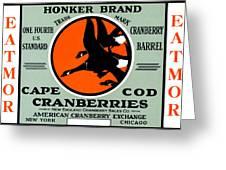 1900 Honker Cranberries Greeting Card