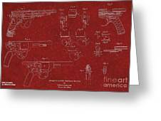 1900 Landstad Automatic Revolver Patent Greeting Card
