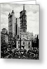 1900 St. Paul's Chapel New York City Greeting Card