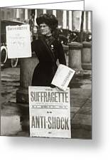 1900s British Suffragette Woman Greeting Card