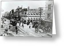 1900s Intersection Of Fair Oaks Greeting Card