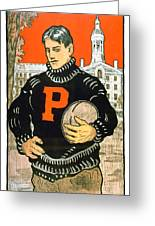 1901 - Princeton University Football Poster - Color Greeting Card