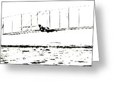 1902 Wright Brothers Glider Tests Greeting Card