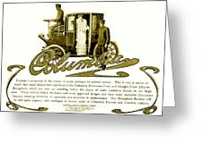 1903 - Columbia Motor Carriage Advertisement Greeting Card
