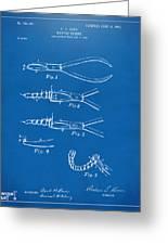 1903 Dental Pliers Patent Blueprint Greeting Card
