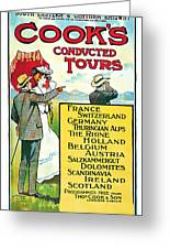 1904 Cooks Conduted Tours Vintage Travel Art Greeting Card