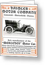 1904 - Daimler Motor Company Mercedes Advertisement - Color Greeting Card