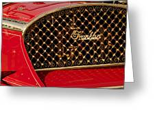 1904 Franklin Open Four Seater Grille Emblem Greeting Card