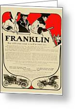 1906 - Franklin Automobile Advertisement - Color Greeting Card