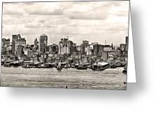 1906 Manhattan Panorama Greeting Card