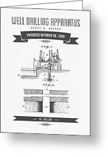 1906 Well Drilling Apparatus Patent Drawing - Retro Gray Greeting Card