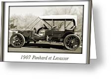 1907 Panhard Et Levassor Greeting Card