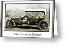 1907 Panhard Et Levassor Greeting Card