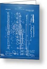1908 Flute Patent - Blueprint Greeting Card