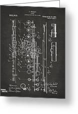 1908 Flute Patent - Gray Greeting Card