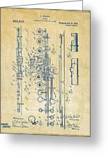 1908 Flute Patent - Vintage Greeting Card