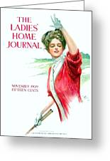 1909 - Ladies Home Journal Magazine Cover - November - Color Greeting Card