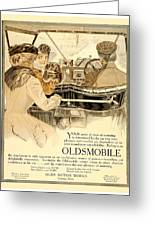 1909 - Oldsmobile Advertisement - Color Greeting Card