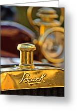 1909 Buick Model F Touring Hood Ornament Greeting Card