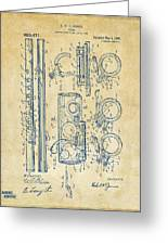 1909 Flute Patent - Vintage Greeting Card