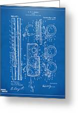 1909 Flute Patent - Blueprint Greeting Card