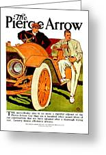 1910 - Pierce Arrow Automobile Advertisement Poster - Color Greeting Card