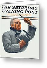 1910 - Saturday Evening Post Magazine Cover - February - Color Greeting Card