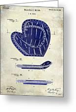 1910 Baseball Patent Drawing 2 Tone Greeting Card