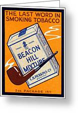 1910 Beacon Hill Pipe Tobacco Greeting Card