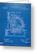 1910 Cash Register Patent Blueprint Greeting Card