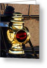 1910 Pope Hartford Model T Lamp Greeting Card