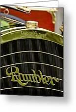 1910 Rambler Model 54 5 Passenger Touring Hood Ornament Greeting Card by Jill Reger