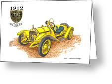 1911 1912 Mercer Raceabout R 35 Greeting Card
