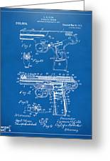 1911 Automatic Firearm Patent Artwork - Blueprint Greeting Card