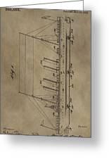 1911 Steamship Patent Greeting Card