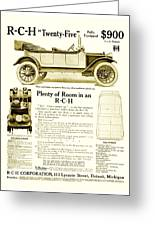 1912 - R C H Automobile Advertisement Greeting Card