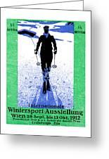 1912 Vienna Winter Sports Greeting Card