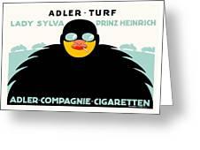 1913 - Adler Cigarette German Advertisement Poster - Color Greeting Card