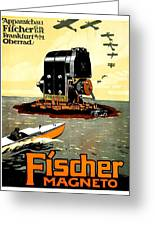 1913 - Fischer Magneto German Advertisement Poster - Color Greeting Card