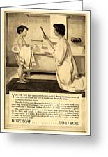 1913 - Proctor And Gamble - Ivory Soap Advertisement Greeting Card