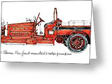 1913 Ahrens-fox Front Mounted Piston Pumper Greeting Card