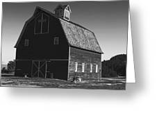 1913 Barn Black And White Greeting Card