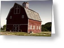 1913 Barn In Montana Greeting Card