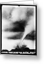 1913 Oklahoma City Tornado Greeting Card