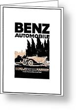 1914 - Benz Automobile Poster Advertisement - Color Greeting Card