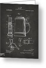 1914 Beer Stein Patent Artwork - Gray Greeting Card